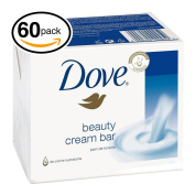 (PACK OF 60 BARS) Dove Unscented Beauty Soap Bar