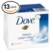 (PACK OF 13 BARS) Dove Unscented Beauty Soap Bar
