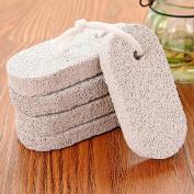 Dealglad® 5Pcs Foot Care Hard Skin Cuticle Remover Bath Natural Pumice Stone Exfoliating Scrubber Pedicure Cleaner Tool