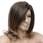 Stfantasy 48cm Long Curly Wig for Business Men