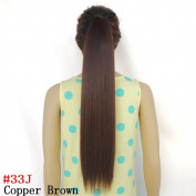 Straight Wrap Clip Ponytail Hairpieces Extension for Women Synthetic Hair Extentions 60cm 50g