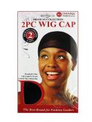 Donna's Premium 2 PC Wig Cap Breathable Fibre Ultra Light & Stretch