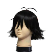 Xcoser Ash Katchum Wig Pokemon Cosplay Costume Black Short Straight Hair Accessories