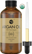 [HIGHEST QUALITY] USDA Organic Moroccan Argan Oil Treatment - 60ml- For Hair, Skin, Face, Nails, 100% Pure, Cold Pressed Virgin Oil from Morocco, Anti-Ageing, Skin Treatment
