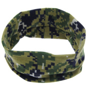 Fullkang Cute Baby Camouflage Hair Ring Elastic Cloth Headband