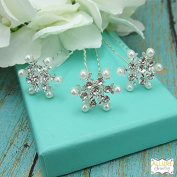 Bridal Snowflake Hairpins