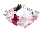 White Roses Flower Crown Headband : S5