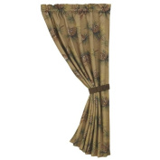 HiEnd Accents Crestwood Pinecone Curtain