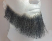 Full Character Beard DARK GREY - 100% Human Hair - no. 2024 - REALISTIC! Perfect for Theatre and Stage - Reusable!