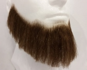 Full Character Beard MEDIUM BROWN - no. 2024 - REALISTIC! 100% Human Hair - Perfect for Theatre