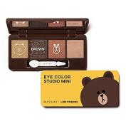 Missha X Line Friends Eye Colour Studio Mini #02 Brown Brownie