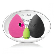 3 Piece Jouvenet Beauty Sponge Blender Set - Latex Free, Odour Free, Vitamin E Infused High Definition Professional Foundation Sponges for Liquid, Powder & Cream Concealer Makeup - Ebook Included