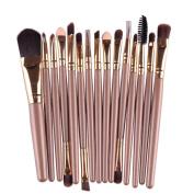 Willtoo 15 pcs/Sets Eye Shadow Foundation Eyebrow Lip Brush Makeup Brushes Tool