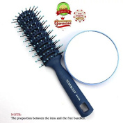 EYX Formula Pro Travel Hair Brush and Manifying Comsemtic Mirror 10x for Travel Beauty
