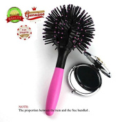 EYX Formula Round Hair Brush for Smoothing Blowout and Compact Beauty Purse Mirror