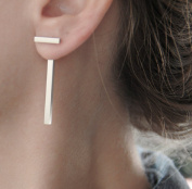 Leiothrix Minimalist High-end Copper Golden Ear Stud with T Shape for Women and Girls Apply to Party and Casual