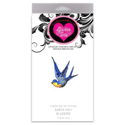 SweetTats Earth Day Bluebird Wrist Temporary Tattoo Pack - 6 Tattoos per Pack