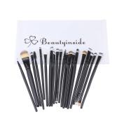 Beautyinside® 20 Pcs Makeup Eye Brushes Cosmetic Set, Foundation Brush, Eye Shadow Brush, Eye Liner Brush, Lip Brush, Mascara Brush