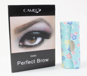 1 Skyblue Flower Lipstick case + 1 Cameo Cosmetics Perfect Brow- Dark