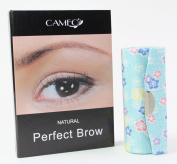 1 Skyblue Flower Lipstick Case + 1 Cameo Cosmetics Natural Perfect Brow