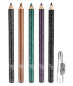 e.l.f. Eyeliner Pencil Set Of 5 Shimmering Metallic Liners For Sparkling Eyes
