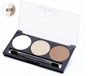 SUKRAGRAHA Blush Facial Makeup Powder 3 Matte Finish White Nude Brown Colour Set with Brush