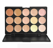 PhantomSky 15 Colour Cream Concealer Camouflage Makeup Palette Contouring Kit #1 - Perfect for Professional and Daily Use