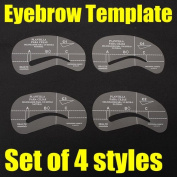 BephaMart 4 Styles Eyebrow Stencil Template Make Up Shaping Tool Shipped and Sold by BephaMart