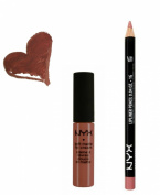 NYX Cannes Lip Cream and Nude Pink Lip Liner Set (Bundle of 2 Items)- Perfect Pairings Collection