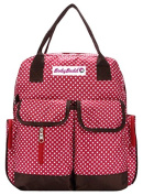 HuggyHug Original Mommy Fashion Nappy Baby Bag, Stroller Organiser Tote, . Red