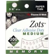 Thermoweb Zots Clear Adhesive Dots, Medium, 300 per pack
