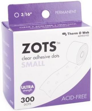 Thermoweb Zots Clear Adhesive Dots, Small, 300 per pack (Pack of 3)