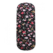 Charminer Protable Floral Sunglasses Hard Eye Glasses Case Eyewear Protector Box Pouch Bag Black 16 x 6 x 3.5cm