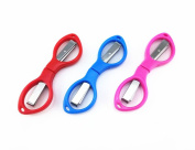Yueton 3pcs Colourful Plastic Handle Folding Safety Scissors