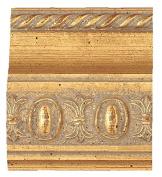 Picture Frame Moulding (Wood) 5.5m bundle - Traditional Gold Finish - 6.4cm width - 1.9cm rabbet depth