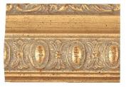 Picture Frame Moulding (Wood) 5.5m bundle - Traditional Gold Finish - 3.8cm width - 1.3cm rabbet depth