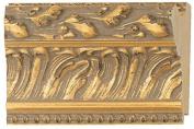 Picture Frame Moulding (Wood) 5.5m bundle - Ornate Gold Finish - 11cm width - 1.7cm rabbet depth