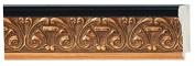 Picture Frame Moulding (Wood) 5.5m bundle - Ornate Gold Finish - 7cm width - 1.3cm rabbet depth