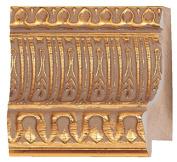 Picture Frame Moulding (Wood) 5.5m bundle - Ornate Gold Finish - 8.3cm width - 2.9cm rabbet depth