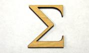 """Alphabet Wood Letter """"SIGMA"""" GARAMOND Font Capital Letters 0.3cm X 25cm"""