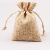 Shintop Burlap Bags - Burlap Drawstring Pouches Wedding Gift Bags Jewellery Candy Pouch Bags 10pcs