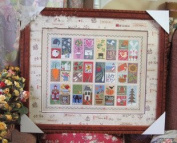 Stamps counted cross stitch, cotton thread , 14ct 45x38cm 195x149 stitch counted cross stitch kits
