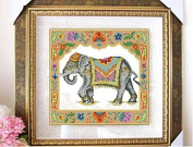 South Asia Elephant counted cross stitch, cotton thread , 14ct 38x38cm 150x150 Stitch counted cross stitch kits