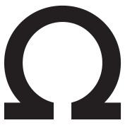 WallCandy Arts Omega Letter, Wall Sticker