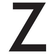WallCandy Arts Zeta Letter, Wall Sticker