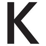 WallCandy Arts Kappa Letter, Wall Sticker