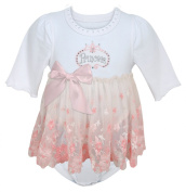 Stephan Baby Angels in Lace Pink Princess All-in-One Lace Trimmed Nappy Cover with Embroidered and Crystal Embellishments, 3-12 Months