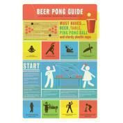 WallCandy Arts Beer Pong Guide, Wall Sticker