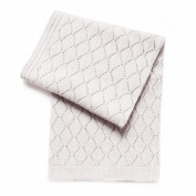 Esteffi Diamond Wool Blend Baby Blanket, Ivory