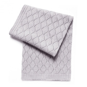 Esteffi Diamond Wool Blend Baby Blanket, Grey
